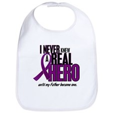 Never Knew A Hero 2 Purple (Father) Bib
