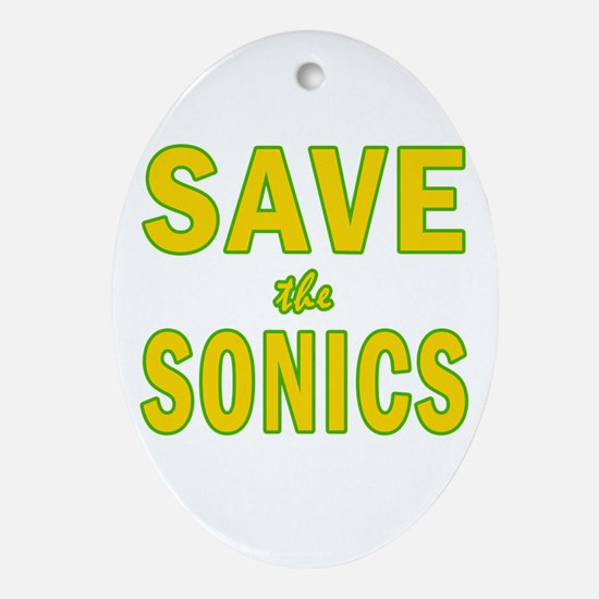 Save the Sonics in Seattle Oval Ornament