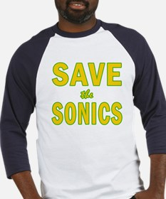 Save the Sonics in Seattle Baseball Jersey