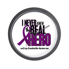 Never Knew A Hero 2 Purple (Grandmother) Wall Cloc