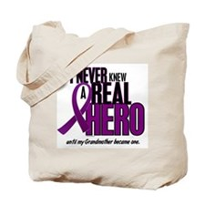 Never Knew A Hero 2 Purple (Grandmother) Tote Bag