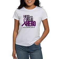 Never Knew A Hero 2 Purple (Grandmother) Tee