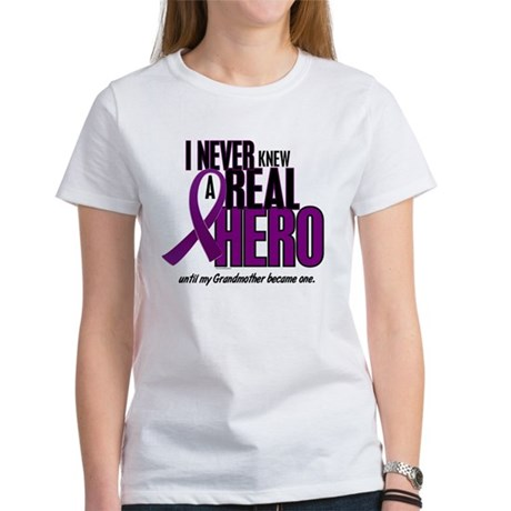 Never Knew A Hero 2 Purple (Grandmother) Women's T
