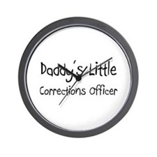 Daddy's Little Corrections Officer Wall Clock