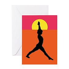 Yoga Warrior Pose Greeting Card