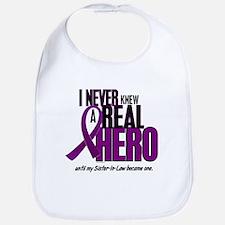 Never Knew A Hero 2 Purple (Sister-In-Law) Bib