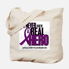 Never Knew A Hero 2 Purple (Sister-In-Law) Tote Ba