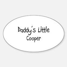 Daddy's Little Cooper Oval Decal