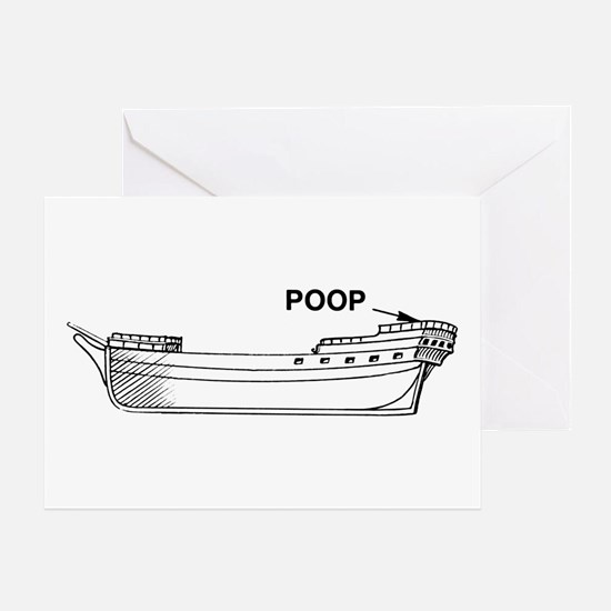 Poop Deck Greeting Card