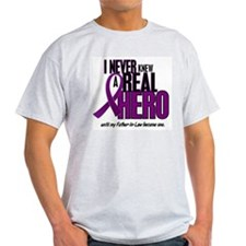 Never Knew A Hero 2 Purple (Father-In-Law) T-Shirt