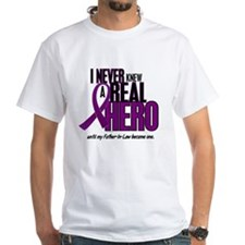 Never Knew A Hero 2 Purple (Father-In-Law) Shirt