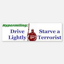 Starve a Terrorist Bumper Car Car Sticker