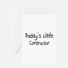 Daddy's Little Contractor Greeting Cards (Pk of 10