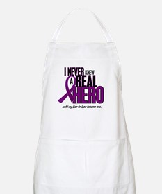 Never Knew A Hero 2 Purple (Son-In-Law) BBQ Apron