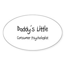 Daddy's Little Consumer Psychologist Decal