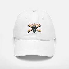 Flaming 8 Skull Baseball Baseball Cap