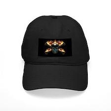 Flaming 8 Skull Baseball Cap