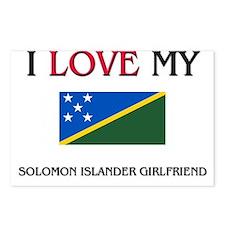 I Love My Solomon Islander Girlfriend Postcards (P