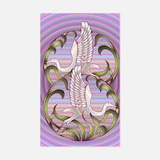 Heron Sunset Rectangle Decal