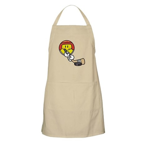 Smile Face Hockey BBQ Apron