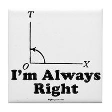 I'm Always Right! Tile Coaster