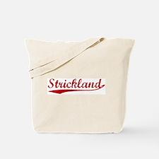 Strickland (red vintage) Tote Bag