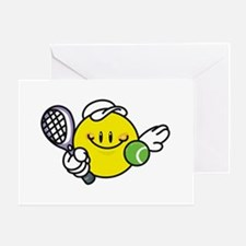 Smile Face Tennis Greeting Card