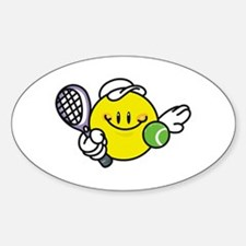 Smile Face Tennis Oval Decal