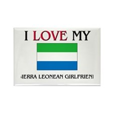 I Love My Sierra Leonean Girlfriend Rectangle Magn