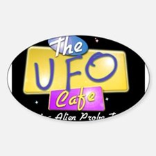 UFO CAFE Oval Decal