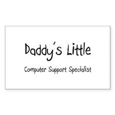 Daddy's Little Computer Support Specialist Decal