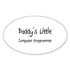 Daddy's Little Computer Programmer Oval Decal