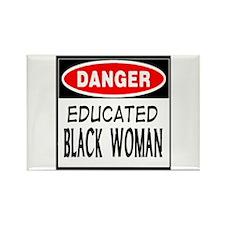 DANGER EDUCATE BLACK WOMAN T- Rectangle Magnet