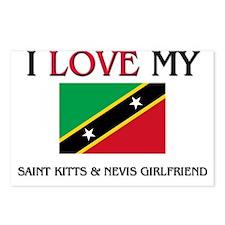 I Love My Saint Kitts & Nevis Girlfriend Postcards