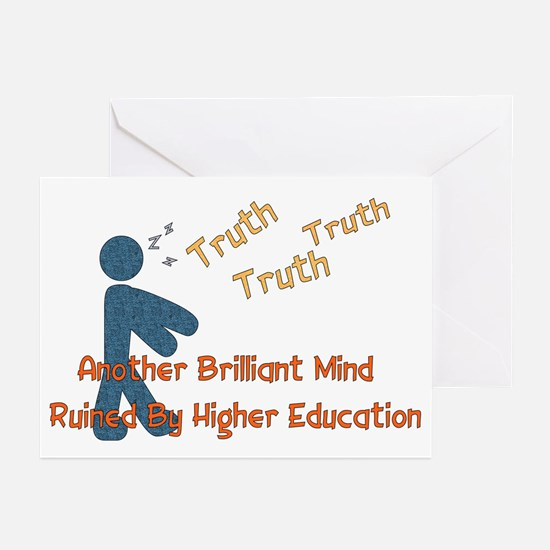 Wasted Education Greeting Cards (Pk of 10)