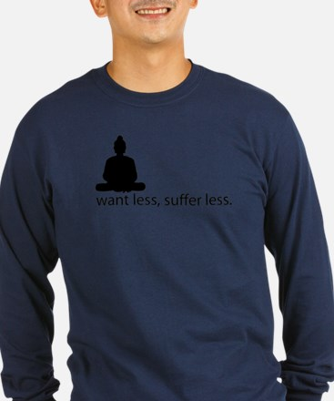 Want less, suffer less. T