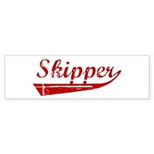 Skipper (red vintage) Bumper Bumper Sticker