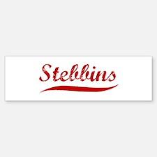 Stebbins (red vintage) Bumper Bumper Bumper Sticker