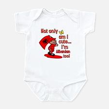 Not only am I cute I'm Albanian too! Infant Bodysu