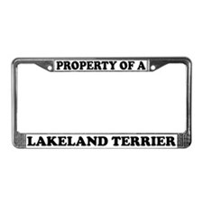 Property Of A Lakeland Terrier License Plate Frame