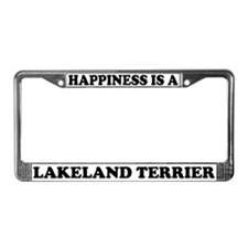 Happiness Is Lakeland Terrier License Plate Frame
