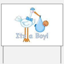 It's a Boy! Stork (aa) Yard Sign