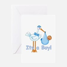 It's a Boy! Stork (aa) Greeting Card