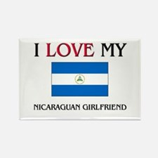 I Love My Nicaraguan Girlfriend Rectangle Magnet