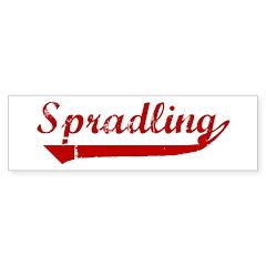 Spradling (red vintage) Bumper Sticker (10 pk)