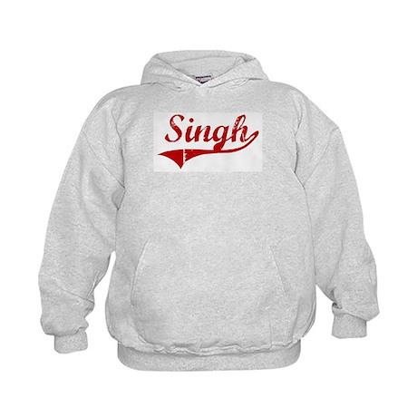 Singh (red vintage) Kids Hoodie