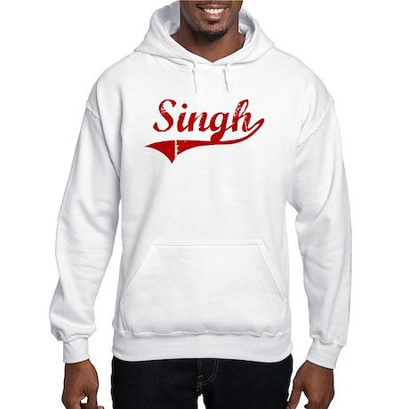 Singh (red vintage) Hooded Sweatshirt