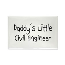 Daddy's Little Civil Engineer Rectangle Magnet