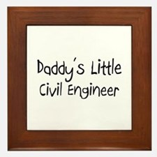 Daddy's Little Civil Engineer Framed Tile