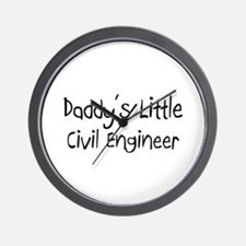 Daddy's Little Civil Engineer Wall Clock